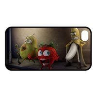 Cheap Funny Fruits Banana Pomegranate and Strawberry Unique Durable Hard Plastic Customized Case for iPhone 4 4s 5 5s 5C