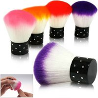 Wholesale pc Colorful Nail Art Salon Acrylic amp UV Gel Dust Cleaner Brush Tools For Decorations