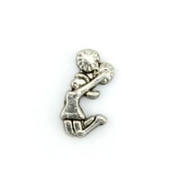 Charms Slides, Sliders Sports Silver cheerleader floating charm - Alloy floating charms for glass living lockets