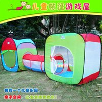 Wholesale Children s tent tunnel triad game suits collapsible and Portable Outdoor tent toys for children toy house