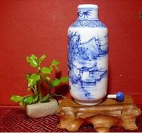 arts and crafts ideas - FBH052443 The idea of jingdezhen blue and white porcelain antique snuff bottles Cabinet and play with arts and crafts