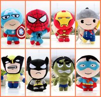 Wholesale The Avengers Plush Toys Marvel Heros Action Figures Captain America Iron Man the Hulk quot Action Figure Doll Toys Movie Carton hot in set