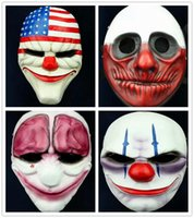 Wholesale Halloween Horror Mask Game PAYDAY The Heist Dallas Mask Cosplay Props Halloween Mask Collection Fashion Game Marsk Gift For Boy Hot Sell