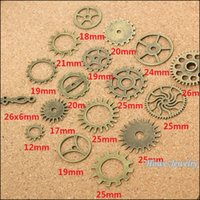 antique watch lot - Mix Vintage steampunk Gear alloy Pendant Antique bronze Metal Watch Accessories DIY Jewelry accessories Finding