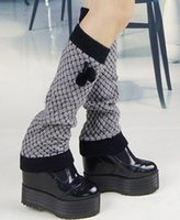 acrylic tube cover - Fashion all match leg warmer double color jacquard socks leg reactor tube feet boots cover