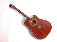 Wholesale Classical Sapele folk acoustic steel string guitar in nature color
