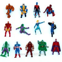 anime manga figure - 10pcs The Avengers Superheroes Manga Miniatures PVC Action Figures Spiderman Anime Figure Figurines Kids Toys For Boys Girls