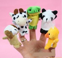 Wholesale Factory direct sale Baby Plush Toy Finger Puppets Talking Props piece animal group A203001