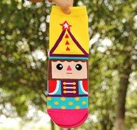 Wholesale New Arrival Women Socks Fashion lovely Cartoon cotton D Nutcracker printed Casual sock for woman CW84