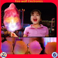 Wholesale Free DHL CM Light Up toys party Cheer led Light Stick flash glow Cotton Candy Stick for Vocal Concerts Night Parties