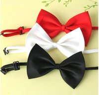 mens neckwear - 2015 Best Quality New men handmade Bow ties mens Bowknot bowties men s bow tie pure color printing unisex women wedding bow ties neckwear