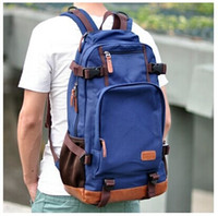 Wholesale 2015 fashion leisure style L Black Vintage Canvas school bag man shoulder bag backpack Canvas Cowboy Cotton Washed Canvas