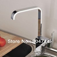 Wholesale 2013 Latest Contemporary Single Handle Brass Kitchen Faucet Chrome Finish