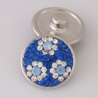 ag jewelry - Changeable mm snaps with copper bottom and rhinestones fit ginger snaps jewelry KB2407 AG