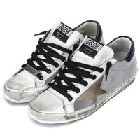 ancient shoes - Original Golden Goose Casual Shoes Restore Ancient Ways Do Old Silver Genuine Leather Men Women Shoes GGDB SSTAR Chaussure Luxe