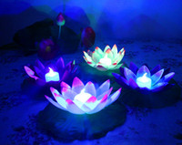 Wholesale New LED Lotus Lights For Christmas Decration Electronic Water Lights Plastic Lotus Lights Two Styles