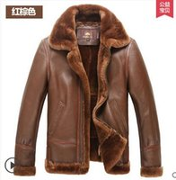 big australian - Fall Europe big yards short paragraph fur male Australian sheep skin leather men s leather jacket