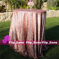 Wholesale Sparkly Rose Gold Sequins Table Cloth for Garden Wedding Party Decorations Sequined Cake Tablecloth Round Square Table Skirts Cheap New