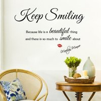 beautiful life quotes - MARILYN MONROE Quote Keep Smiling Life Beautiful Art Wall Stickers Decals Decor