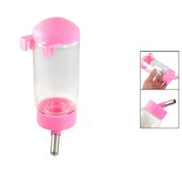 Wholesale IMC Dog Drinking Hanging Water Bottle Pet DisPenser Pink Clear ml order lt no track