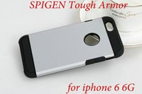 Wholesale 10pcs New Tough Armor Hybird SPIGEN SGP Slim Armor Hard Back Cover Case for iPhone G quot