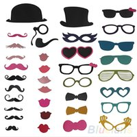 Wholesale New DIY Photo Booth Props Mustache On A Stick Wedding Birthday Christmas Party OPY