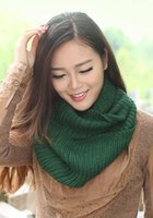 Wholesale 2015 New Cheap Scarves Wraps Fall Womens Hot Fashion Thicken Warm Knitting Wool Neckerchief Knitted Scarf Red Yellow Blue Black