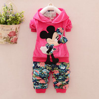 Spring / Autumn brand velour tracksuits - spring baby girl clothing sets piece suit set tracksuits Girl s Kitty sets velvet children s Sport suits hoody jackets pant