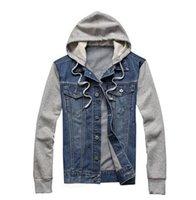 Veste en jean hommes sportswear à capuchon Outdoors Casual fashion Jeans Vestes Hoodies Cowboy Mens Veste et Coat Plus Size 4XL 5XL