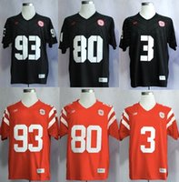 Wholesale Nebraska Cornhuskers College Football Jersey red black embroidered Jersey size M XXXL