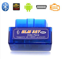 Wholesale Latest Version V2 Super MINI ELM327 Bluetooth OBD OBD2 Wireless ELM Multi Language Kinds Works ON Android Torque PC