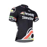 santini - summer Santini team cycling jersey Cinelli bike jacket and bib pants men sport clothing