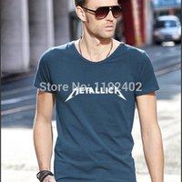 designer clothes for men - 2014 New Nine Veyron T shirt Rock Band Metallica Metal T Shirt Men Slim Clothing Designer Tees Tops For Men