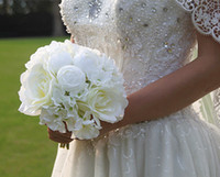 april bridal - 2016 New Arrival High Level Wedding Bridal Bouquet Freshing Style with Mix Artificial Peony Flower