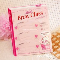 Wholesale 1 set mini brow class Eyebrow Tools Stencils eyebrow shaping eyebrow card thrush artifact dream Finland eyebrow tools eyebrow card aids