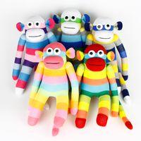 sock monkey - Handmade baby toys sock monkey stuffed animal doll child gift birthday party favor