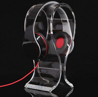 Wholesale Top quality acrylic Headphone display stand acrylic Headset Holder Clear or Black Acrylic headphone display stand