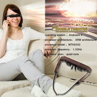 Wholesale Portable Eyewear Inch p HD Widescreen Multimedia Player D stereo Video Glasses Virtual Theatre android os supports WIFI