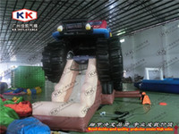 Wholesale Monster Truck Slide giant inflatable dry slide commercial grade slide for sale