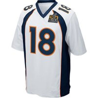 Wholesale Mens Broncos Manning White Super Bowl American football jersey