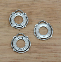 antique life rings - Hot Antique Silver Alloy LIFE RING Charms DIY Jewelry x mm