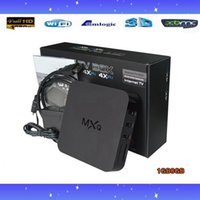 Wholesale 5PCS MXQ TV BOX Amlogic S805 Quad Core Android4 Kitkat K GB GB XBMC WIFI Airplay Miracast in stock