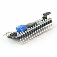 al por mayor i2c cii-Puerto del módulo de la placa 1pc para la exhibición del LCD de Arduino 1602 Luz de fondo ajustable del módulo de interfaz IIC / I2C / TWI / SPI Serial Lo más nuevo