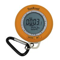 auto compass thermometer - Sunroad SR108S Mini LCD Digital Camping Hiking Pedometer Altimeter Compass Thermometer Weather Forecast Time Backlight order lt no track