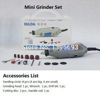 Wholesale 15pcs accessories Hilda Electric grinder Engraving Machine Mini electric grinding Miniature drill Electric mill kit plastic case