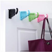 Wholesale Clothes hook Colorful door hook coat hook back style fashion creative Seamless Free nail coat rack hangers