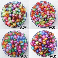 Wholesale Quality cute transparent acrylic beads of rhomboid oval cuboid flower shape beading accessories for children jewel