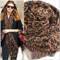 Wholesale New Large Leopard Silk Scarves Long Spot Scarf chiffon Wrap Headscarf Shawls Sexy warm soft lady Xmas gifts