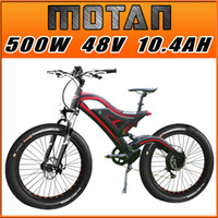 bicycle alloy fork suspension - In Stock Addmotor MOTAN quot Bicycle M Sport Black Red Fat Tire W V AH Fork Suspension Spring Shock Absorber Electric Bicycle