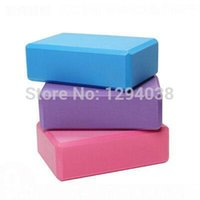Wholesale 1PC Candy Color Eco Friendly EVA Yoga Block High Density Thicken Yoga Aids Fitness Bricks Nap Pillow For Pregnant